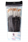 PXP 6 brushes FLAT profigrime synthetic hair