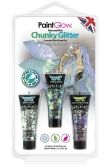 Blister set chunky glitter face & body gel Mermaid Mist
